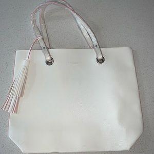 Ralph Lauren White Fragrance Tote Bag